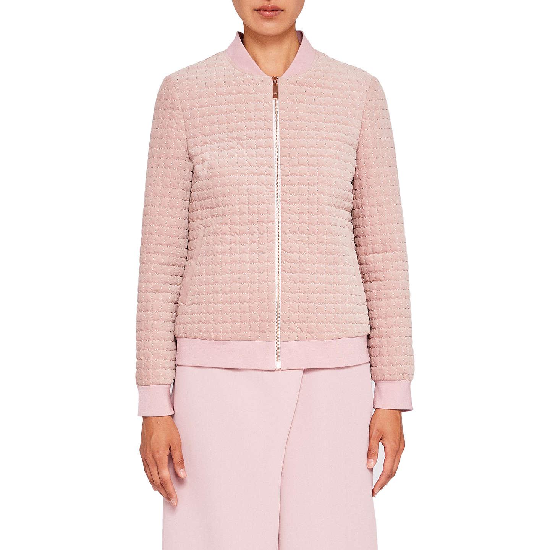 BuyTed Baker Ted Says Relax Prindil Quilted Velvet Bomber Jacket, Dusky  Pink, 0 Online ...
