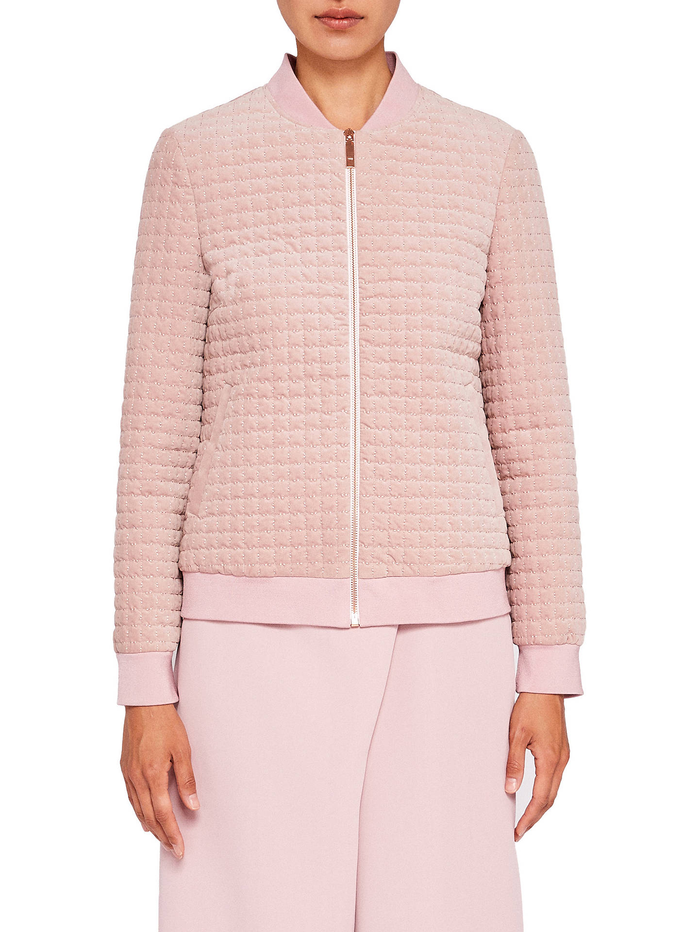 55c39b907179 Ted Baker Ted Says Relax Prindil Quilted Velvet Bomber Jacket at ...