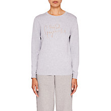 Buy Ted Baker Ted Says Relax Leena Drop Ted Gorgeous Jumper, Light Grey Online at johnlewis.com
