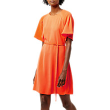 Buy Warehouse Pleated Sleeve Dress, Bright Red Online at johnlewis.com