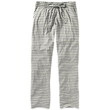 Buy Fat Face Jersey Stripe Classic Pyjama Trousers, Grey Marl Online at johnlewis.com