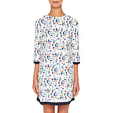 Buy Ted Baker Colour by Numbers Limina Printed Shift Dress, Ivory Online at johnlewis.com