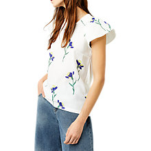 Buy Warehouse Iris Smock Top, White Online at johnlewis.com