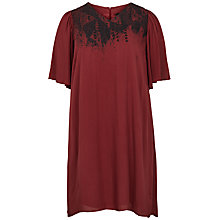 Buy ADIA Front Print Short Sleeve Dress, Merlot Online at johnlewis.com