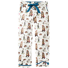 Buy Fat Face Park Life Bear Pyjama Bottoms, Ivory/Multi Online at johnlewis.com