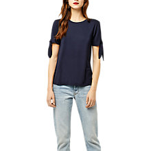 Buy Warehouse Tie Sleeve T-Shirt Online at johnlewis.com