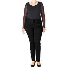 Buy ADIA Rome Basic Jeans, Black Online at johnlewis.com