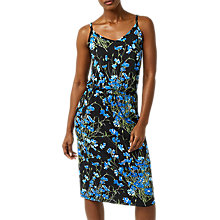 Buy Warehouse Full Bloom Midi Dress, Black/Multi Online at johnlewis.com