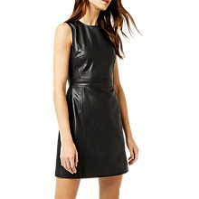 Buy Warehouse Faux Leather Dress, Black Online at johnlewis.com