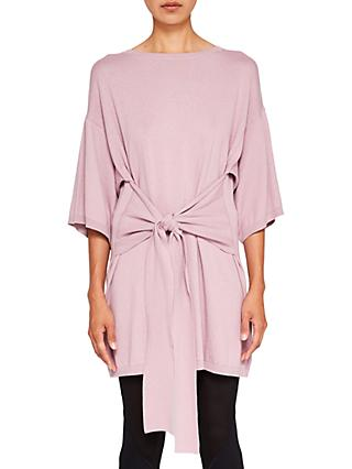 Ted Baker Ted Says Relax Olympy Tie Front Knitted Tunic Dress