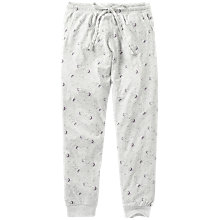 Buy Fat Face Luna Sky Jersey Cuffed Pyjama Bottoms, Grey Marl/Multi Online at johnlewis.com