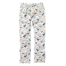Buy Fat Face Woodland Jersey Pyjama Bottoms, Ivory/Multi Online at johnlewis.com