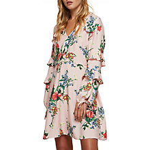 Buy Miss Selfridge Petite Floral Long Sleeve Dress, Pink Online at johnlewis.com