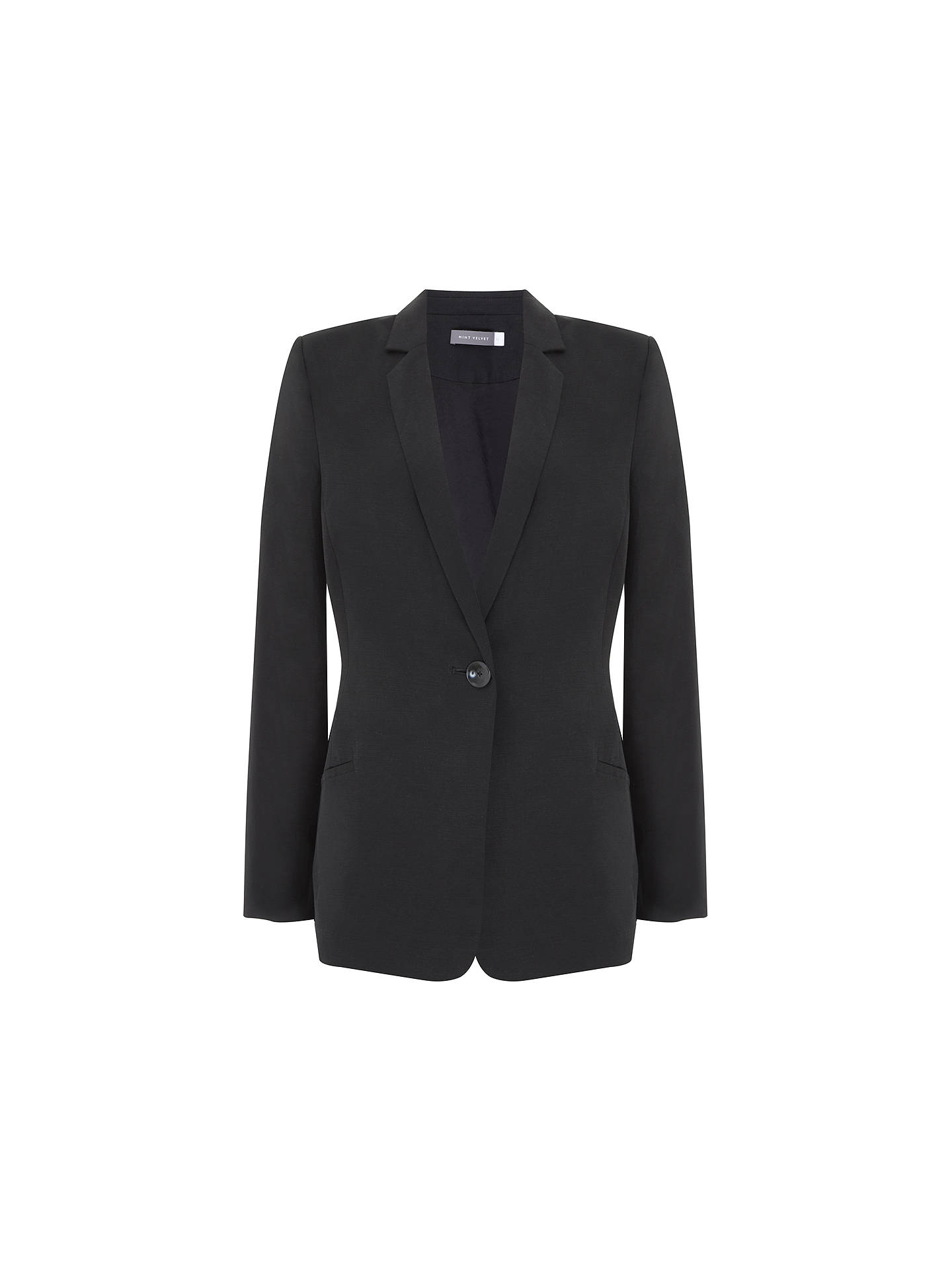 BuyMint Velvet Boyfriend Blazer, Black, 6 Online at johnlewis.com