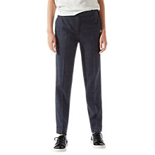 Buy Jigsaw London Marl Wool Trousers, Navy Online at johnlewis.com