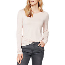 Buy Mint Velvet Petal Scoop Neck T-Shirt, Light Pink Online at johnlewis.com