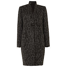 Buy Damsel in a dress Rowan Leopard Print Coat, Charcoal/Black Online at johnlewis.com