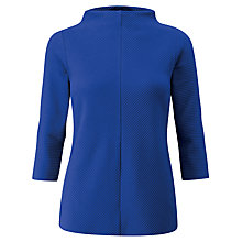 Buy Pure Collection Textured Cotton Top, Sapphire Blue Online at johnlewis.com
