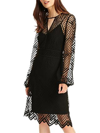 Phase Eight Lorna Lace Dress, Black