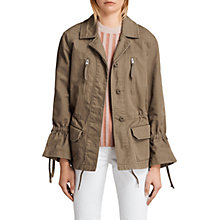 Buy AllSaints Amira Jacket, Dust Olive Green Online at johnlewis.com
