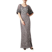 Buy Phase Eight Capella Sequin Dress, Grey Online at johnlewis.com
