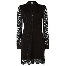 Buy Damsel in a dress Lace Shirt Dress, Black Online at johnlewis.com
