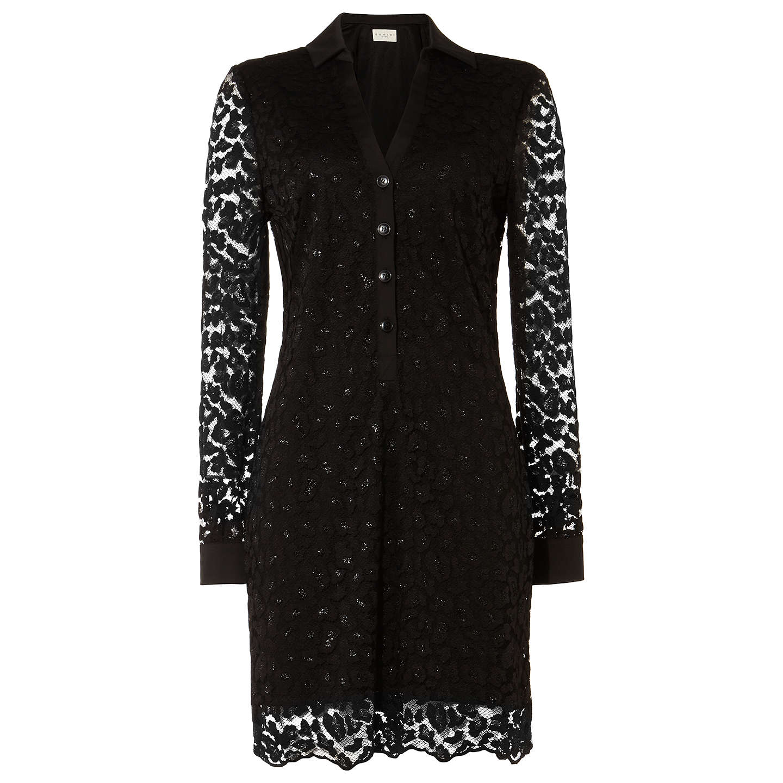 Damsel In A Dress Kelsie Dress Black At John Lewis: Damsel In A Dress Lace Shirt Dress, Black At John Lewis