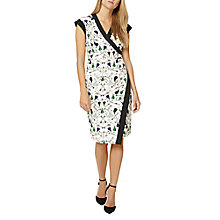 Buy Damsel in a dress Key Print Dress, Black Online at johnlewis.com