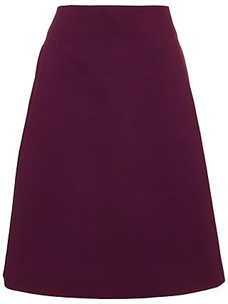 Winser London Miracle A-Line Skirt, Rich Berry