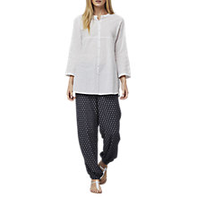 Buy East Pintuck Detail Long Shirt, White Online at johnlewis.com