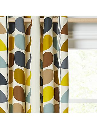 Orla Kiely Multi Stem Pair Lined Eyelet Curtains, Duck Egg