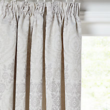 Buy John Lewis Alba Damask Lined Pencil Pleat Curtains Online at johnlewis.com