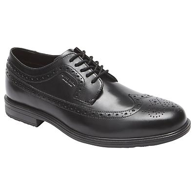 Rockport Essential Wingtip Leather Derby Shoes, Black