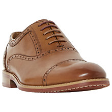 Buy Dune Paulie Leather Oxford Shoes, Brown Online at johnlewis.com