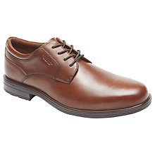 Buy Rockport Essential Details Waterproof Plaintoe Leather Derby Shoes Online at johnlewis.com