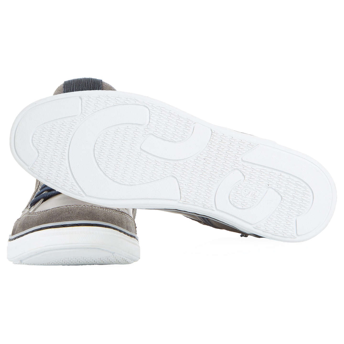 BuyDune Sven Hi-Top Trainers, Grey, 6 Online at johnlewis.com