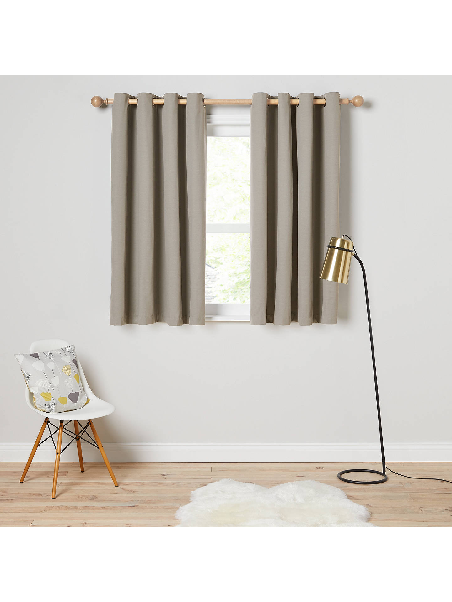 Buy House by John Lewis Arlo Pair Lined Eyelet Curtains, Storm, W117 x Drop 137cm Online at johnlewis.com