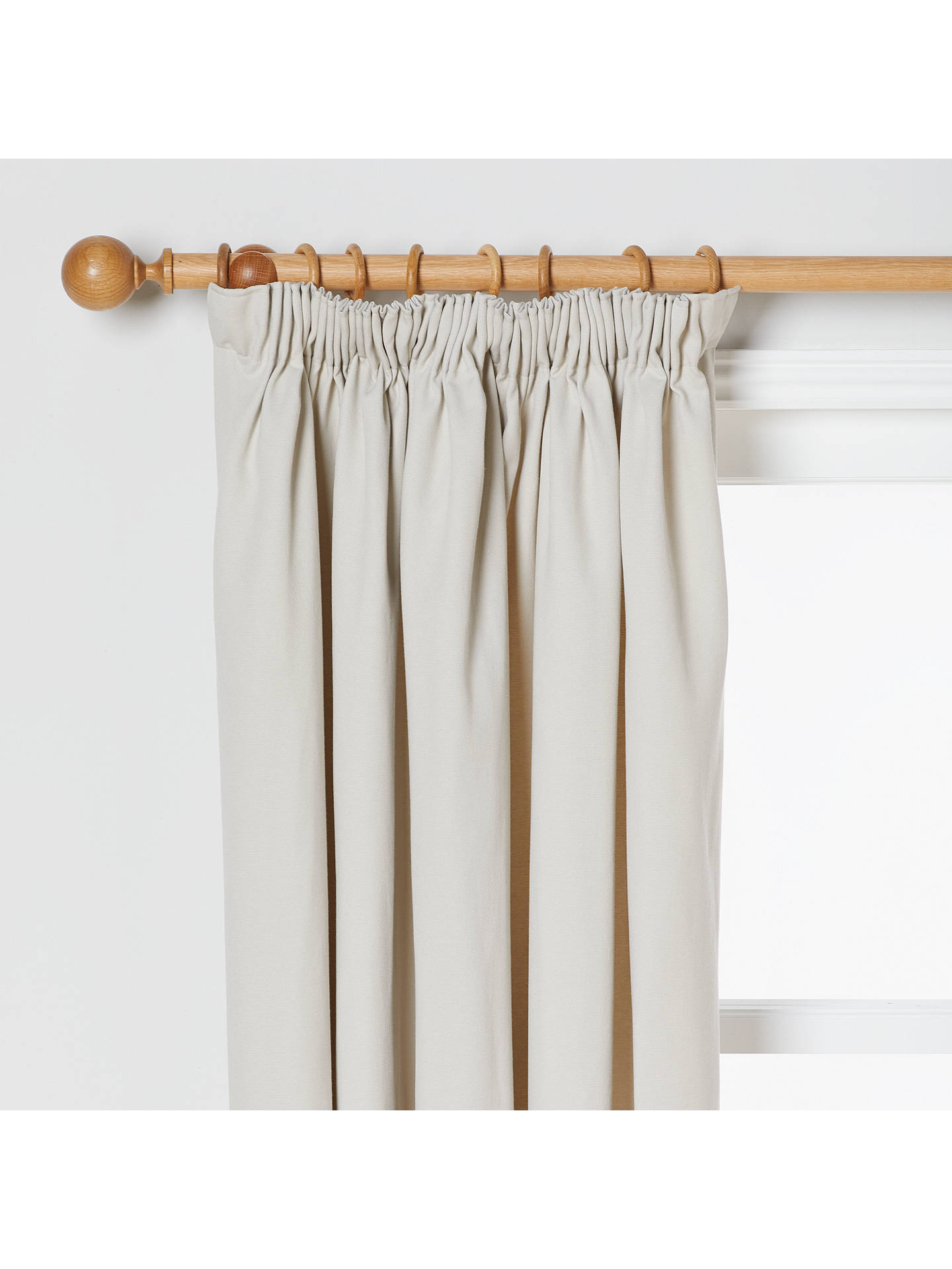 BuyJohn Lewis & Partners Arlo Pair Lined Pencil Pleat Curtains, Putty, W167 x Drop 137cm Online at johnlewis.com
