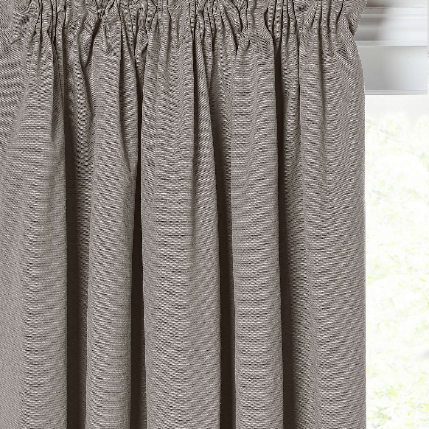 John Lewis Arlo Pair Lined Pencil Pleat Curtains, Storm by John Lewis