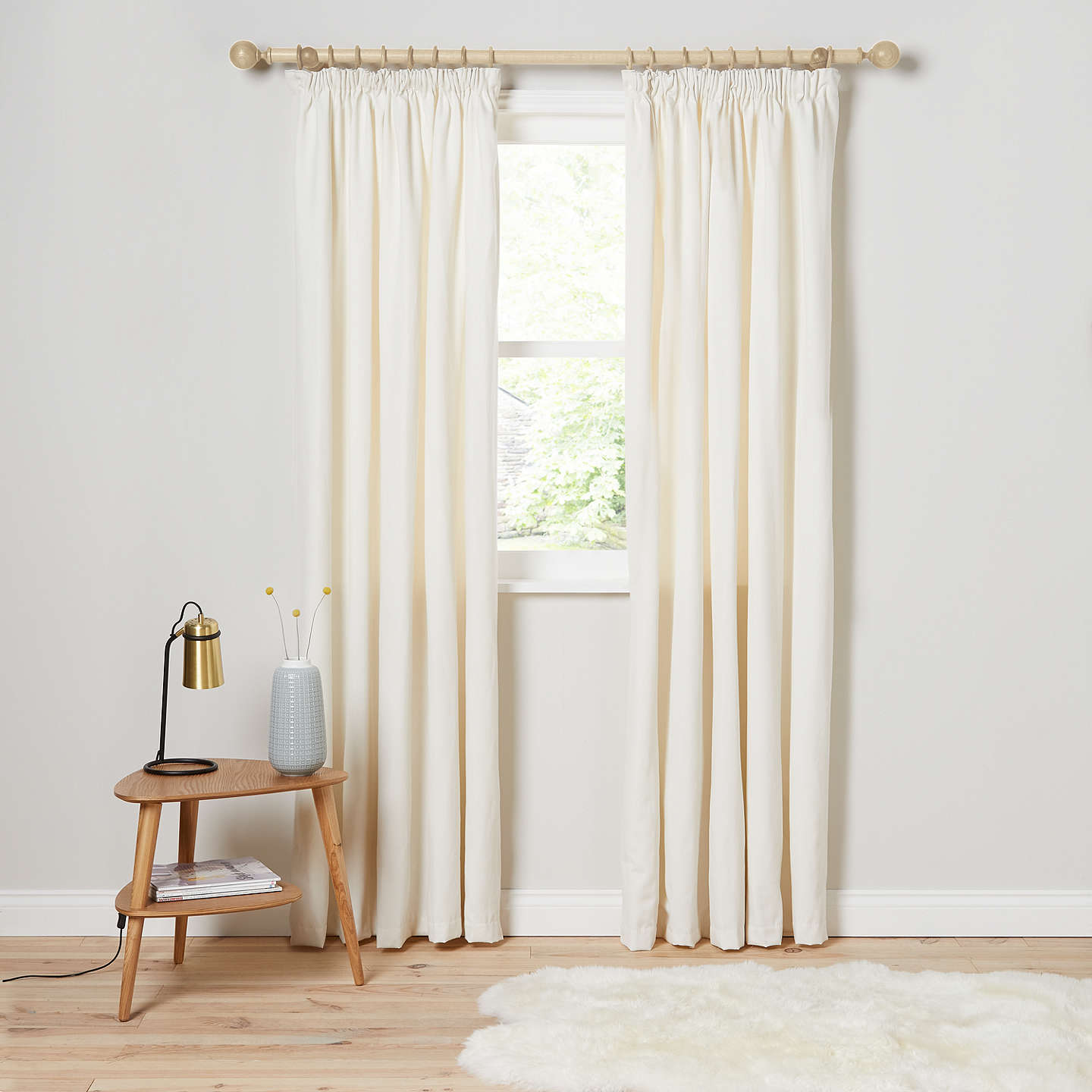 BuyJohn Lewis Arlo Pair Lined Pencil Pleat Curtains, Lily, W167 x Drop 137cm Online at johnlewis.com