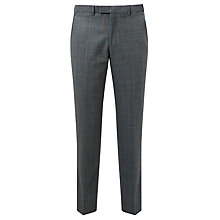 Buy John Lewis Check Tailored Fit Suit Trousers, Grey/Aqua Online at johnlewis.com