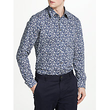 Buy Paul Smith Stretch Poplin Floral Shirt, Navy Online at johnlewis.com
