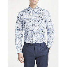 Buy PS Paul Smith Ink Spot Tailored Fit Shirt, White Online at johnlewis.com
