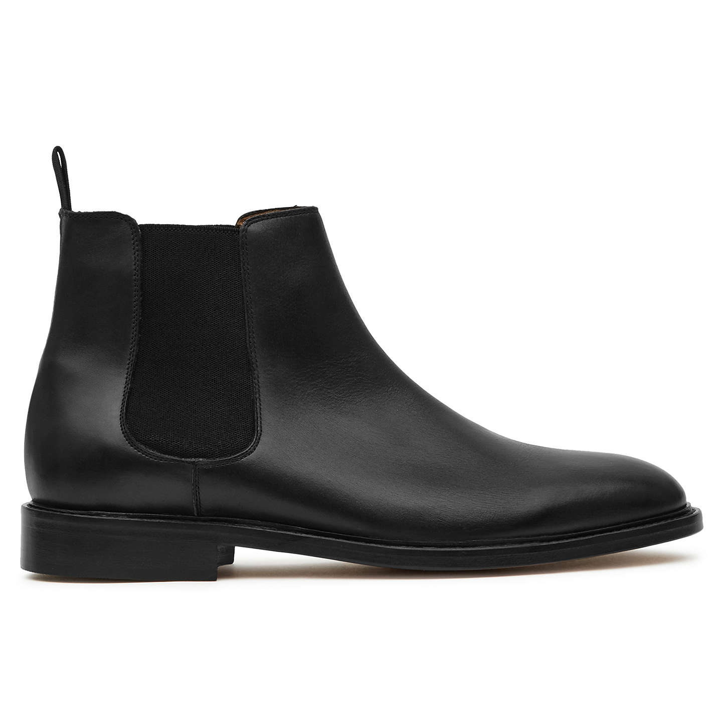 Reiss Tenor Leather - Leather Chelsea Boots in Black, Mens