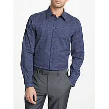 Buy PS Paul Smith Paint Print Tailored Fit Shirt, Navy Online at johnlewis.com
