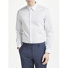 Buy PS Paul Smith Dash Print Tailored Fit Shirt, White Online at johnlewis.com