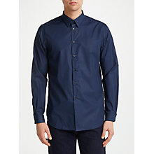 Buy PS Paul Smith Cotton Poplin Tailored Fit Shirt, Navy Online at johnlewis.com