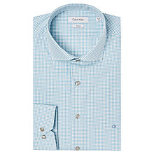Buy Calvin Klein Cannes Check Fitted Shirt, Blue Online at johnlewis.com