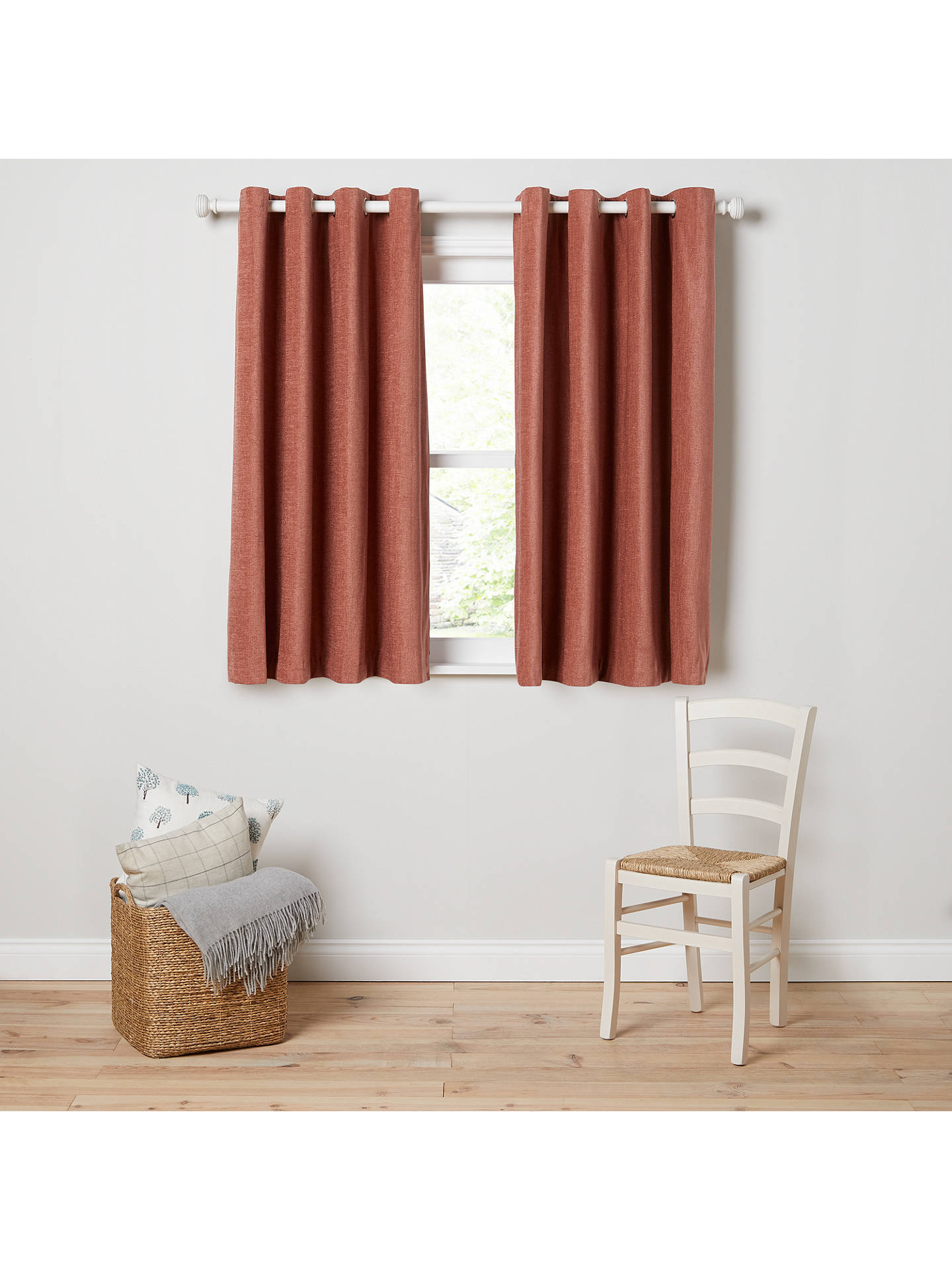 BuyJohn Lewis & Partners Chester Pair Lined Eyelet Curtains, Brick, W167 x Drop 182cm Online at johnlewis.com