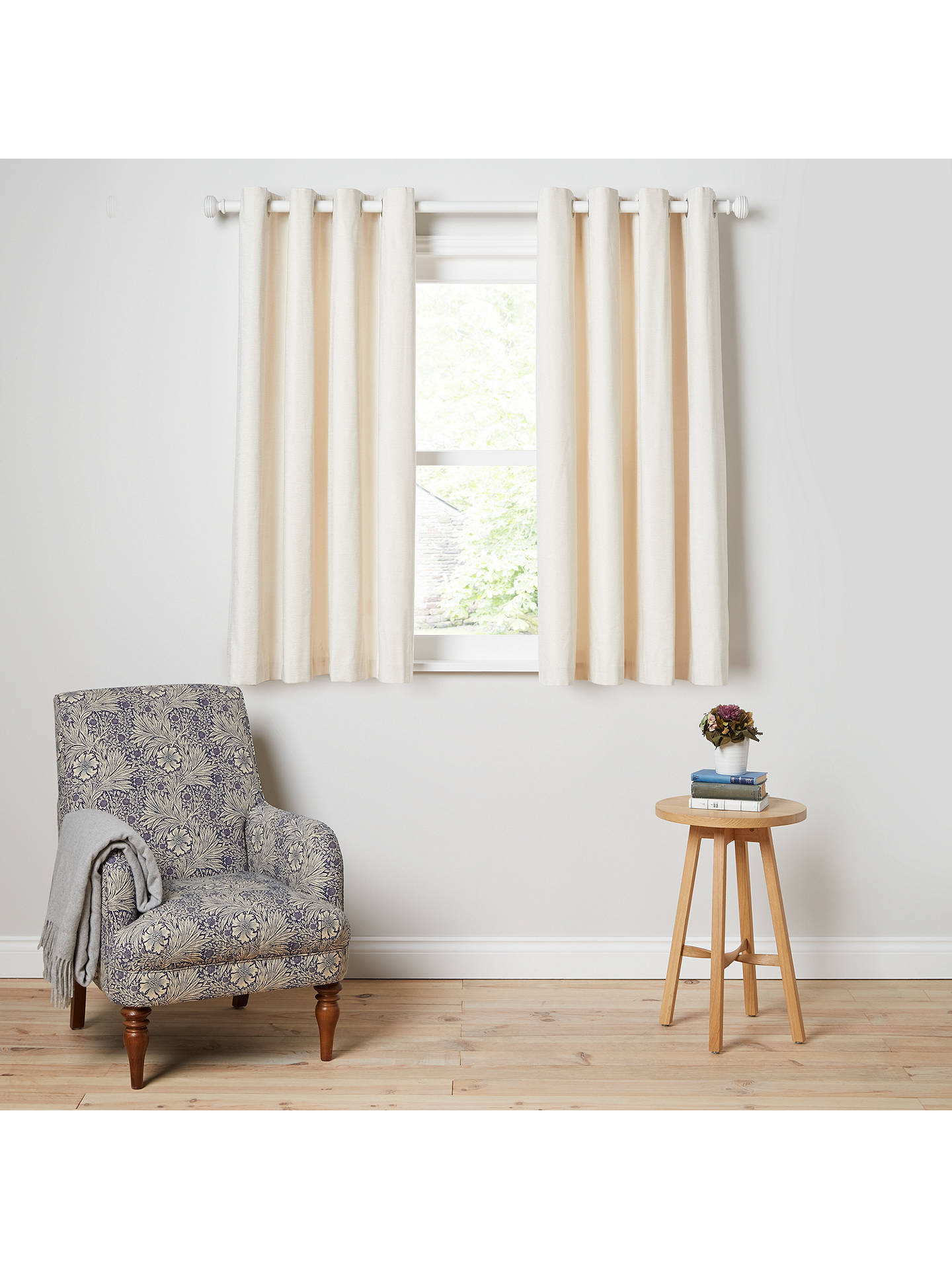 Buy John Lewis & Partners Chester Pair Lined Eyelet Curtains, Oyster, W228 x Drop 137cm Online at johnlewis.com
